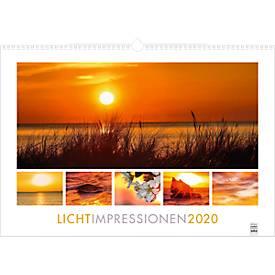 """Bildkalender """"Lichtimpressionen"""", 490 x 340 mm, 3-sprachig, Werbedruck je Monatsblatt"""