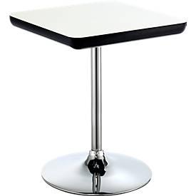 Bistro-Tisch COLOR H 720 mm, weiß/schwarz