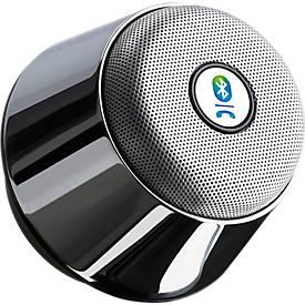 Bluetooth Lautsprecher Chrom, mit integriertem FM-Radio, Freisprechfunktion