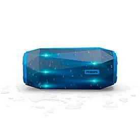 Bluetooth Lautsprecher Philips ShoqBox SB500A/00, 30 W, IPX7, Freisprechfunktion, blau
