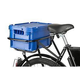 Boîte à courrier pour vélo de transport, en plastique, sans couvercle, bleu