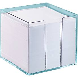 Boîte transparente pour bloc cube, 95 x 95 x 95 mm, avec 700 feuillets