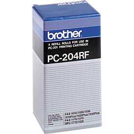 Bobine de transfert thermique Brother PC-204RF, noir, 4 rouleaux