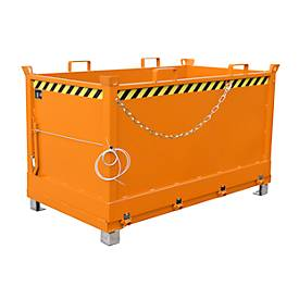 Bodemklepcontainers FB, 1,5 m³, oranje