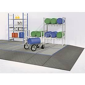 Image of Bodenauffangwanne ASECOS, Polyethylen, 60 l Auffangvolumen, PE-Gitterrost, B 790 x T 790 x H 150 mm