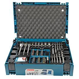 Bohrer-Bit-Set, Koffersystem, Bohrer, Bithalter, Magnethalter, Steckschlüssel, 66-tlg. MAKPAC