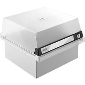 Boîtes à fiches avec serrure, A5, noir