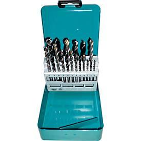 Boorset, Boor voor verschillende materialen, verschillende lengtes, 18 stuks, 18 boren.