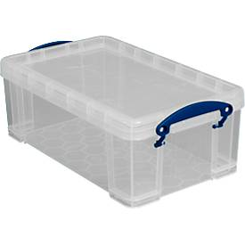 Box, Kunststoff, transparent, mit Deckel, 9 l