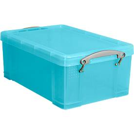 Box Really useful Boxes, Kunststoff, transparent aqua, verschiedene Größen