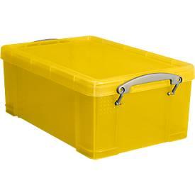 Box Really useful Boxes, Kunststoff, transparent gelb, verschiedene Größen