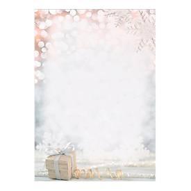 Briefpapier mit Motiv Sigel Christmas Surprise, A4, 90 g/m², 100 Blatt