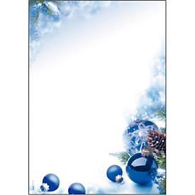 Briefpapier mit Weihnachtsmotiv Sigel Blue Harmony, A4, 90g/m², 100 Blatt