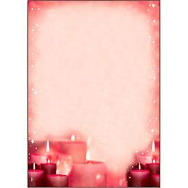 Briefpapier mit Weihnachtsmotiv Sigel Red Candlelight, A4, 90g/m², 100 Blatt