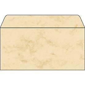 Briefumschläge Marmor, beige, 50 Stück