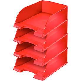 Brievenbakjes Leitz Jumbo, rood, 4 stuks