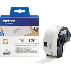 brother individuele etiketten op rol, DK-11201,  adres, 29 x 90 mm, papier, wit, 400 etiketten