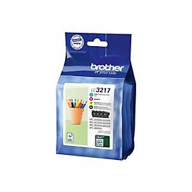 Brother LC3217 Value Pack - 4er-Pack - Schwarz, Gelb, Cyan, Magenta - Original - Tintenpatrone