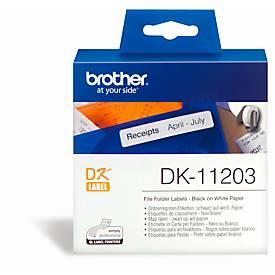 BROTHER Ordnerregister-Etiketten DK-11203, 17x87 mm, 300 Stück