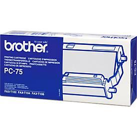 brother Rouleau pour fax PC75, transfert thermique, noir