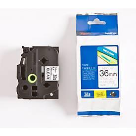 Brother Schriftbandkassette TZe-161, 36 mm,  farblos/schwarz