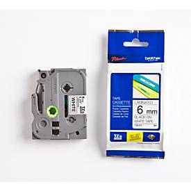 brother Schriftbandkassette TZe-211, 6 mm breit, weiß/schwarz