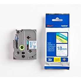 Brother Schriftbandkassette TZe-243, 18 mm, weiß/blau
