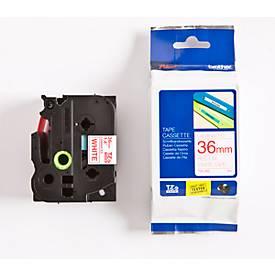 Brother Schriftbandkassette TZe-262, 36 mm, weiß/rot