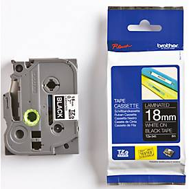 Brother Schriftbandkassette TZe-345, 18 mm, schwarz/weiß