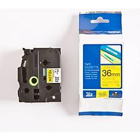 Brother Schriftbandkassette TZe-661, 36 mm, gelb/schwarz