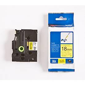 Brother Schriftbandkassette TZe-FX641, 18 mm, gelb/schwarz