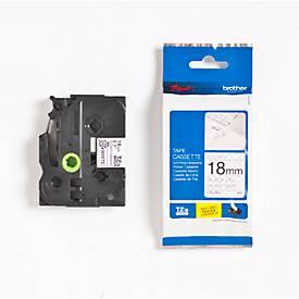 Brother Schriftbandkassette TZe-SE4, 18 mm, weiß/schwarz