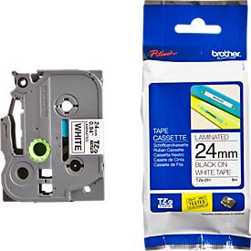 Brother tapecassette TZe-251, 24 mm, wit/zwart