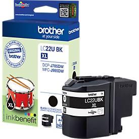 Brother Tintenpatrone LC-22UBK, schwarz
