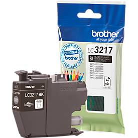 Brother Tintenpatrone LC-3217BK, schwarz