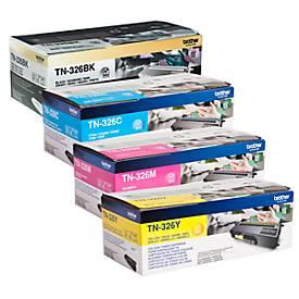 Brother Tonerkassette Sparpaket TN-326, CMYK-Bundle, schwarz,cyan, magenta, gelb