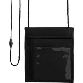 Brustbeutel, schwarz, aus 70 D Polyester, 150 x 175 x 5 mm