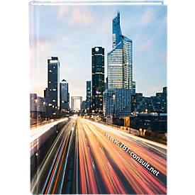 Buchkalender Premium-Line, inkl. 4-farbiger Bedruckung, dt. Kalendarium, 400 Seiten