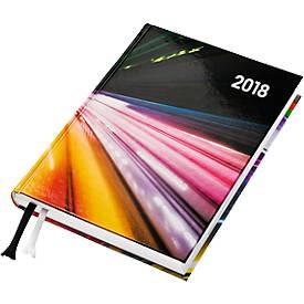 Buchkalender Premium-Line, inkl. 4-farbiger Bedruckung, intern. Kalend., 352 Seiten