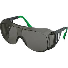 Bügelbrille Uvex 9161, EN 166, EN 169, Polycarbonat grau, Rahmen schwarz/grün, Schutzstufe 3, 5 Stck