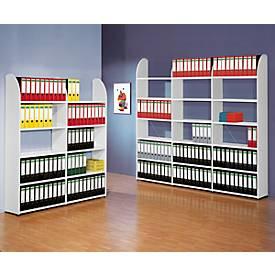 Büroregal Dante®, Regalfeld, H 1900 x B 800 mm, ohne Rückwand, weiß