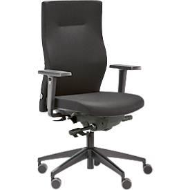 Bürostuhl SSI PROJECT SC 2340, Punktynchronmechanik, ohne Armlehnen, höhenverstellbar