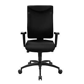 Bürostuhl SSI PROLINE P1 Clean, mit Armlehnen, Punktsynchronmechanik, Bandscheibensitz, antibakterieller Bezug, schwarz