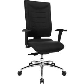 Bürostuhl SSI PROLINE P3, Synchronmechanik, ohne Armlehnen, Lendenwirbelstütze, Bandscheibensitz, schwarz