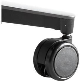 Bürostuhlrollen, für Bürostuhl ERGO+, für harte Böden, lastabhängig gebremst, schwarz, 5 Stück