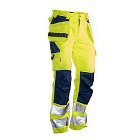 Image of Bundhose Jobman 2377 PRACTICAL, Hi-Vis, mit Hängetaschen, EN ISO 20471 Klasse 1, gelb I dunkelblau, 42