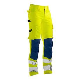 Image of Bundhose Jobman 2378 PRACTICAL, Hi-Vis, EN ISO 20471 Klasse 2, gelb I dunkelblau, 48