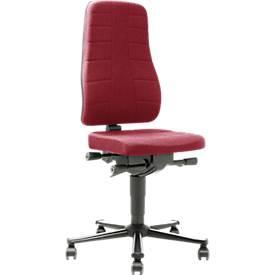 Bureaustoel All-in-One 9643, stoffen bekleding, Duotec, rood