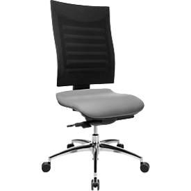 Bureaustoel SSI PROLINE S3, zonder armleuningen, synchroonmechanisme, ergonomische leuning, grijs/zwart