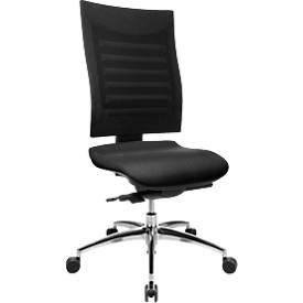 Bureaustoel SSI PROLINE S3, zonder armleuningen, synchroonmechanisme, ergonomische leuning, zwart/zwart